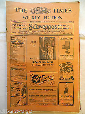 The Times  Weekly Edition  19. Nov. 1936