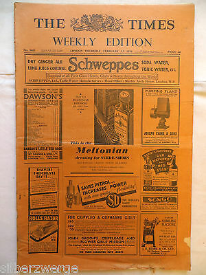 The Times  Weekly Edition  13. Febr. 1936