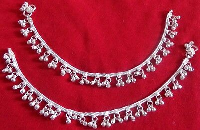 Lot 2 kuchi tribal silver bells anklet ankle bracelet Indian Belly Dance jewelry