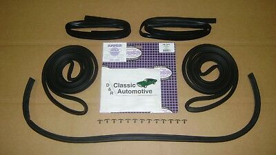 Weatherstrip Kit 5pc Door+Window Channel Run+Hood 68-72 El Camino **In Stock**