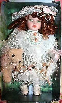"*NEW* SEYMOUR MANN CONNOISSEUR COLLECTION PORCELAIN VICTORIAN ""KIMBERLY"" DOLL"