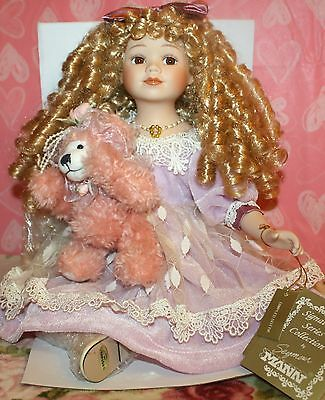 *NWT* SEYMOUR MANN DIMPLED DOTTIE PORCELAIN DOLL/ SHEENA EASTONS ANGELS TOUCH