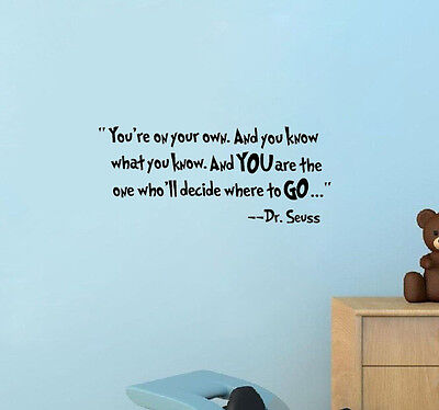 Dr Seuss Saying Fashion Character Mural Wall Quote Sticker Decals Inspiration