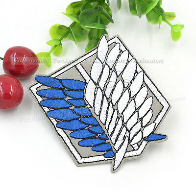 Attack on Titan Embroidered Iron Patch Sew Scouting Legion Anime Cloth Applique