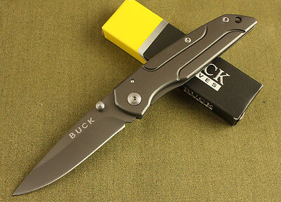 Buck Folding Pocket Knife Fishing Tactical Saber Hunting Camping Rescue NEW D145