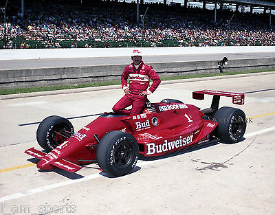 BOBBY RAHAL 1987 INDIANAPOLIS 500 INDY BUDWEISER BEER 8x10 PHOTO