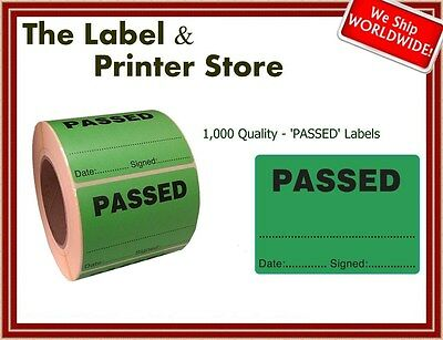 1000 Quality Inspection PASSED Labels - QC QI Checked Stickers
