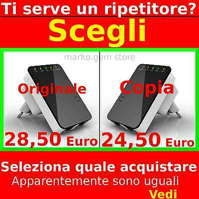 Originale Amplificatore Segnale Wireless Wifi Repeater Ripetitore Extender Rete