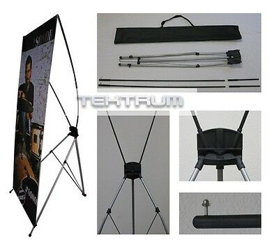 TEKTRUM Large 32 x 71 Inches Tripod X Banner Stand for Trade Show/Store - 2 SETS