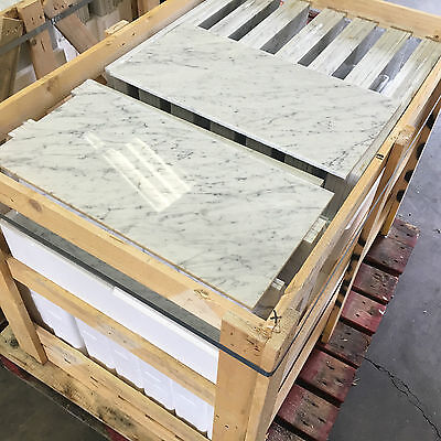 "4X4"" Sample Of Bianco Carrara White Polished Marble Tile , Limestone, Travertine"