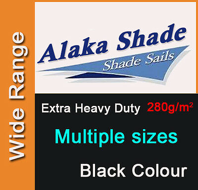 Extra Heavy Duty Shade Sail Black Sun Outdoor Triangle Square Rectangle Dark