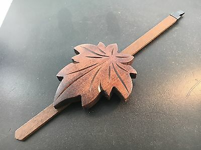 German Cuckoo Clock Pendulum Large Leaf  for Eight Day Movements