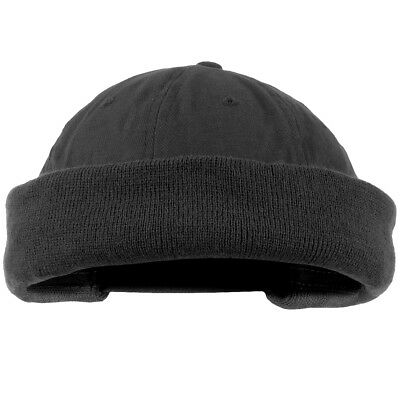 Commando Watch Cap Round Tactical Beanie Army Military Extra Short Hat Black