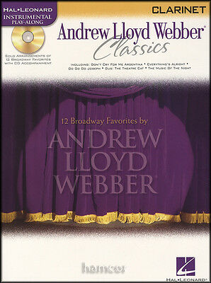 Andrew Lloyd Webber Classics Clarinet Play-Along Music Book & Backing Tracks CD
