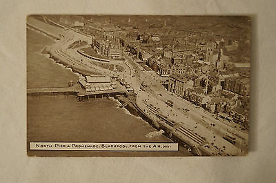 North Pier and Promenade Blackpool - England - Vintage - Collectable - Postcard.