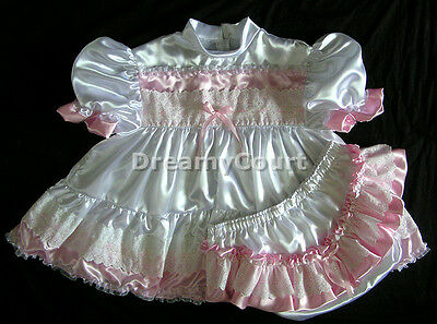ADULT SISSY VICTORIAN BABY SATIN DRESS SET