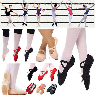 New Adult Soft Split Ballet Dance Shoes Fitness Gymnastics Shoes Slippers Canvas