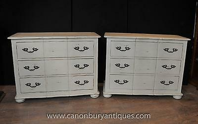Pair French Farmhouse Chest Drawers Commodes Shabby Chic