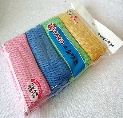 New Microfiber Towel For Car Kitchen Dish Cleaning Cloth Soft Practical 4PCS