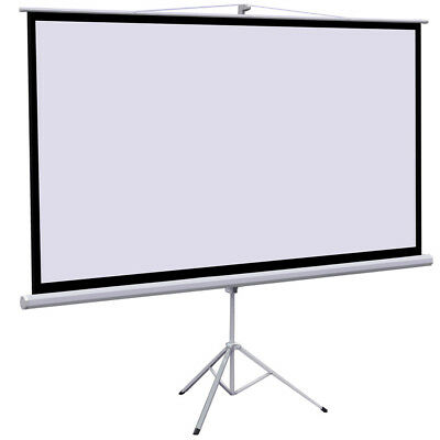 "100"" Tripod Foldable Projector Projection Screen 87x49  Movie Projector 16:9"