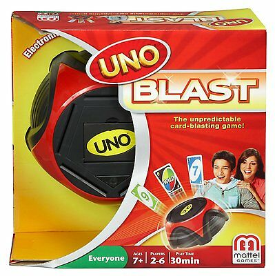 Uno Blast Electronic Card Board Game Family Action