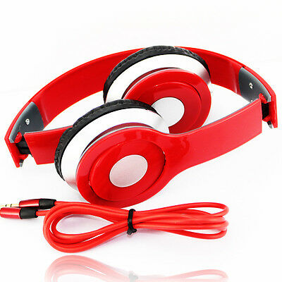 Hot Red Adjustable Over-Ear Earphone Headset 3.5mm for iPod MP3/P4 SP15-RD