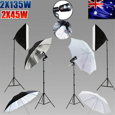Photography Studio Continuous Lighting Softbox Boom Light 3XBackdrop Stand KiT