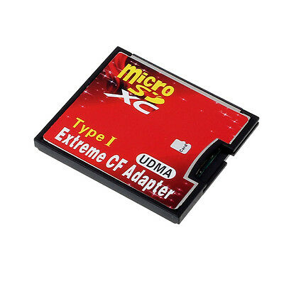 Micro SD TF SDHC To Type I 1 Compact Flash Card CF Reader Adapter UDMA T20S