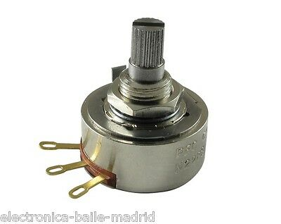 POTENTIOMETER PEC 500K AUDIO 24mm KNURLED SHAFT FOR BASS OR GUITAR - THE BEST!