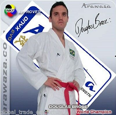 BRAND NEW Arawaza ONYX EVOLUTION Karate Suit Gi MARTIAL ARTS 7oz WKF APPROVED
