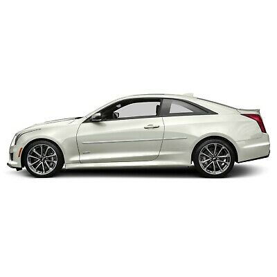 For: CADILLAC ATS COUPE Painted Body Side Mouldings With Chrome Insert 2015-2018