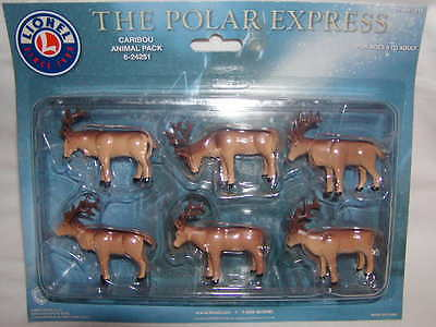 Lionel 6-24251 The Polar Express Caribou Animal Pack MIB New 6 Pieces O O27