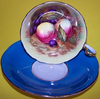 """RARE, GORGEOUS AYNSLEY TEA CUP AND SAUCER SIGNED  """"N BRUNT"""""""