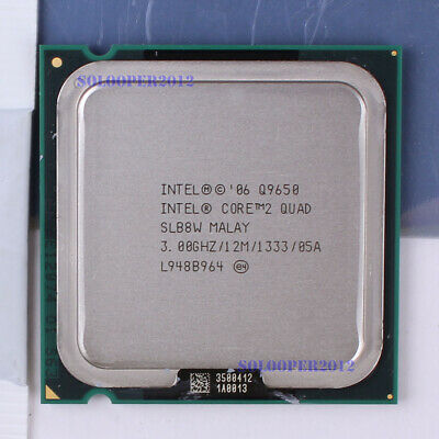 Free shipping Intel Core 2 Quad Q9650 LGA 775 (SLB8W) CPU Processor 3 GHz