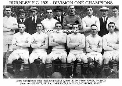 Burnley F.C. 1921 Division One Champions