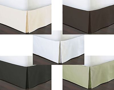 """Split Corner 15""""Drop Tailored Bed Skirt 1000TC 1Pc Solid 100% Cotton Select Size"""
