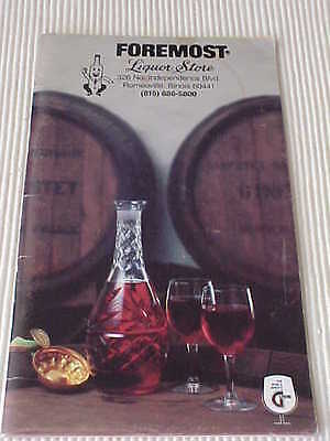 Mix Drink Recipes Cocktail Bartender Guide 1980 Foremost Liquor Stores 1980 Used
