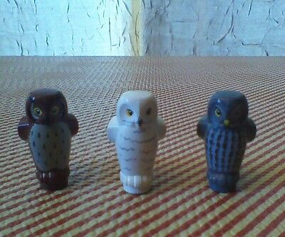 LEGO Harry Potter LOT OF 3 OWLS ~WHITE, BROWN, GRAY ~ Animal Hedwig Minifigures