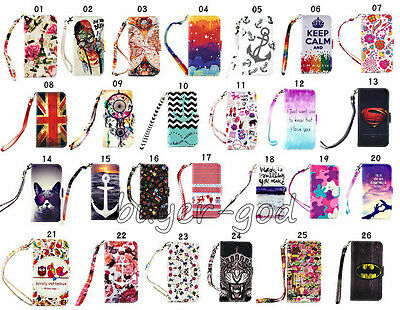 Hybrid Vintage Strap Stand Flip Wallet Leather Case Cover For Samsung Galaxy New