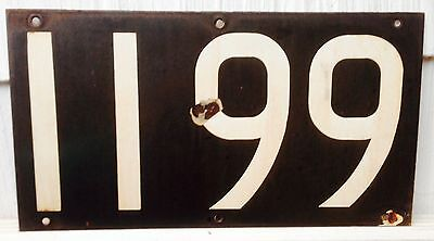 1936 NY R6 New York Subway Baked Enamel Painted Metal Number Sign 1199 Wall Art