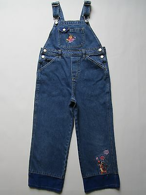 Disney Pooh Bear Girl's Overall Jeans [ 6X ] Childs Denim Jumpsuit Tigger Pants