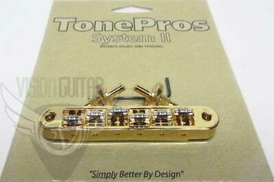 NEW! TonePros Metric Tune-O-Matic Bridge w/ Roller Saddles TP6R-G GOLD
