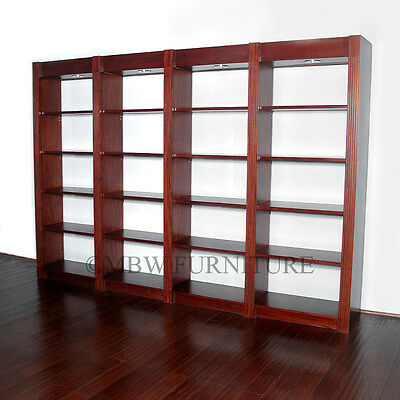 Cherry 20-Tier 10.5Ft Open Wall Bookcase or Shop Store Display Rack  tbcs0024