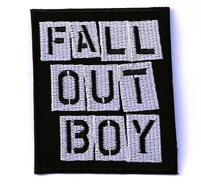 FALL OUT BOY Music Band Punkal Ternaative Rock Pop Sew Iron on Patches #FS