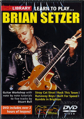 Learn to Play Brian Setzer Stray Cats Lick Library Guitar Tuition DVD NEW SEALED