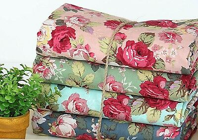 BY THE YARD Lady garden Roses 100% Cotton Fabric Rose flowers floral JC2/45*