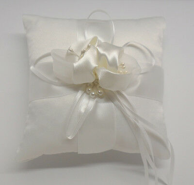 wedding Ring Pillow Ivory