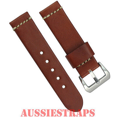Distressed Vintage Leather BROWN Tan Watch Strap Band Pre-V PreV suit Panerai