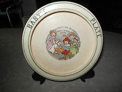 ANTIQUE BABY PLATE DISH NURSERY RHYME ROSEVILLE?