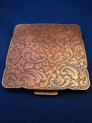 Beautiful Heavy Vintage Solid Silver 835 Compact with Mirror